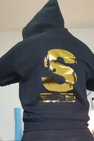ABBIGLIAMENTO PERSONALIZZATO FELPE T-SHIRT FELPA ORO t-shirt personalizzata fluo gold