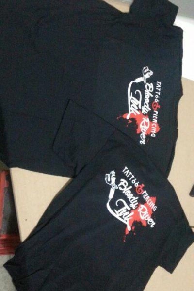 ABBIGLIAMENTO PERSONALIZZATO FELPE t-shirt personalizzata fluo black and grey