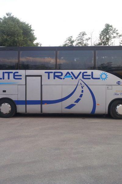 DECORAZIONE AUTOMEZZI LOGO WRAPPING BUS PULLMAN elite travel